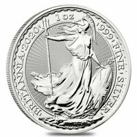 2020 GREAT BRITAIN 1 OZ SILVER BRITANNIA COIN .999 FINE BU   IN STOCK