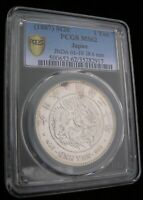 PRETTY 1887 UNCIRCULATED JAPANESE YEN GRADED MS 62 BY PCGS