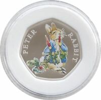 2018 ROYAL MINT BEATRIX PETER RABBIT 50P FIFTY PENCE SILVER PROOF COIN BOX COA