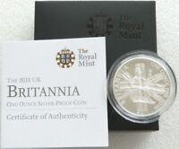 2011 ROYAL MINT BRITISH BRITANNIA 2 TWO POUND SILVER PROOF 1OZ COIN BOX COA
