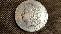 1904 S MORGAN DOLLAR  EXTRA FINE /AU WHITE COIN  LUSTER