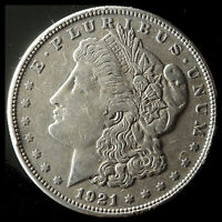 1921-P MORGAN 90 SILVER DOLLAR SHIPS FREE. BUY 5 FOR $2 OFF