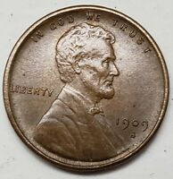1909 S VDB  LINCOLN WHEAT PENNY APPEALING