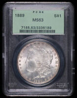 1889 MORGAN SILVER DOLLAR COIN OGH PCGS MINT STATE 63 336189