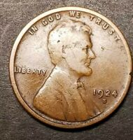 1924S LINCOLN PENNY-VG
