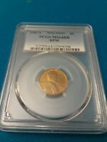 1942 S LINCOLN CENT MINOR VARIETY RPM PCGS MINT STATE 64RB
