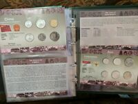REDUCED    LOT OF 25 COIN SETS NEW WORLD MONEY SERIES MULTIP