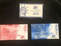 2000 MINT PROOF SET AND TWO 1999 UNCIRCULATED COIN SET LOT
