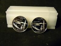ROLL OF 40 2005 S 90  SILVER PROOF STATE QUARTERS 8 OF EACH
