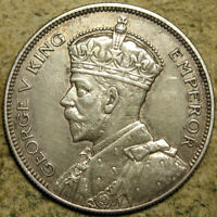 SOUTHERN RHODESIA: 1932 KING GEORGE V SILVER HALF CROWN