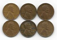 1930 1930D 1930S 1931 1932 1932D LINCOLN WHEAT CENT CENTS 6 COIN LOT