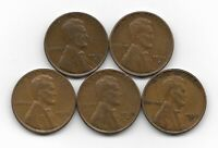 1935D 1935S 1936 1936D 1936S LINCOLN WHEAT CENT CENTS 5 COIN LOT