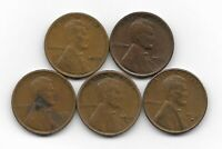 1928 1928D 1928S 1929S 1930S LINCOLN WHEAT CENT CENTS 5 COIN LOT