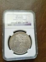 1889 CC MORGAN SILVER DOLLAR CLEANED NGC CERTIFIED GENUINE COIN