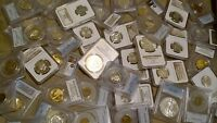 US COIN COLLECTION PCGS / NGC SILVER 100 YO BU XF COINS  GRA