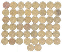 1949 S FULL ROLL WHEAT CENTS 50 COINS NO JUNK FINE TO X-FINE