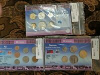 OCEANIA UNC COIN SETS NEW WORLD MONEY LOT OF 3 SETS AUSTRALI
