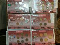 LOT OF 6 COIN SETS MIDDLE EAST NEW WORLD MONEY SERIES UNC IS