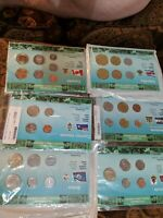 6 UNC COIN SETS NEW WORLD MONEY SERIES CARIBBEAN CENTRAL & N