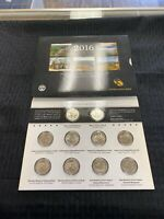 2016 AMERICA THE BEAUTIFUL QUARTERS UNCIRCULATED COIN SET