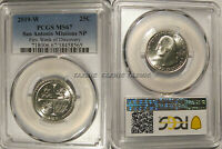 2019 W SAN ANTONIO MISSIONS NP QUARTER PCGS MS67 FIRST WEEK