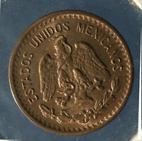 MEXICO, 1 CENT, 1937, BEAUTIFUL FULL MINT RED UNCIRCULATED, RAW