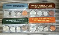 CYPRUS 1973  1974  1979  1980 LOT OF 4 YEAR SETS IN ORIGINAL