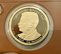 2013 S DEEP CAMEO PROOF THEODORE ROOSEVELT PRESIDENTIAL DOLLAR