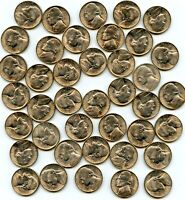 1944 S JEFFERSON WAR TIME NICKELS RARE UNCIRCULATED ROLL 40