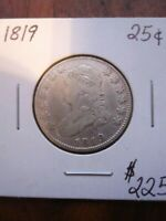 USA 1819 CAPPED BUST QUARTER F NICE FOR ANY COLLECTION 144 0