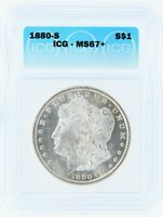 1880-S SILVER MORGAN DOLLAR ICG MINT STATE 67 S$1