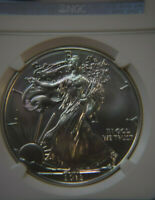 2012 SILVER AMERICAN EAGLE $1 - NGC MS70 - FIRST RELEASES