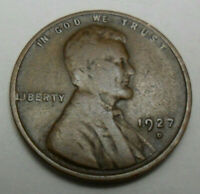 1927 D LINCOLN WHEAT CENT / PENNY   VG -  GOOD   SHIPS FREE