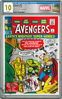 MARVEL COMICS   AVENGERS 1   SILVER FOIL   CGC 10 GEM MINT FIRST RELEASE