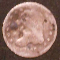 1836-P CAPPED BUST SILVER HALF DIME.  SHIPS FREE