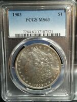 1903 P MORGAN SILVER DOLLAR PCGS MINT STATE 63