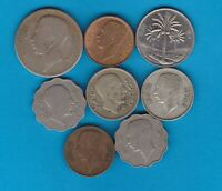 EIGHT COINS FROM IRAQ IN GOOD FINE OR BETTER CONDITION