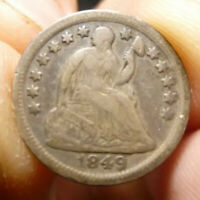 1849-O SEATED LIBERTY HALF DIME