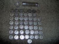 ROOSEVELT DIMES ROLL OF 50 90  SILVER 1945   1964