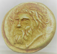 UNRESEARCHED ANCIENT GREEK AU GOLD COIN 5.92GRAMS 17MM