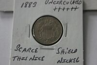 1883   UNC     SHIELD NICKEL