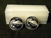 ROLL OF 40 2007 S 90  SILVER PROOF STATE QUARTERS MIXED 8 OF