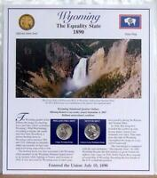 WYOMING STATEHOOD QUARTERS P D 2007  POSTAL PANEL COLLECTION