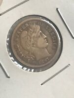 UNITED STATES BARBER 1897 S ONE DIME 90  SILVER COIN MUST SE