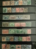 USED COLLECTION LATE 1800'S EARLY 1900'S US STAMPS LOT 1