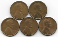 1929 1929D 1929S 1930D 1930S LINCOLN WHEAT CENT CENTS 5 COIN LOT