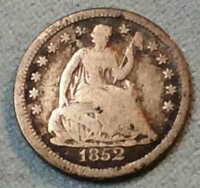 1852 SEATED HALF DIME  MAKE AN OFFER IT'S EZ