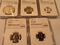 1939 PROOF SET  NGC PR66   BEAUTIFUL RARE COINS IN HIGH PROO