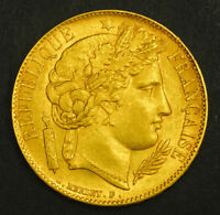 1851 FRANCE  2ND REPUBLIC . BEAUTIFUL GOLD 20 FRANCS COIN. 2