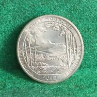 NATIONAL PARKS STATE QUARTER 2013 D WHITE MOUNTAIN NEW HAMPS